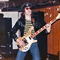Jo in 1976 with his Rickenbacker before it was stolen