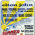 The bill poster for the Wembley Stadium 'Summer of 84 Concert'